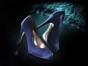 scarpa blu swarosky 076