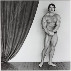 Arnold Schwarzenegger 1976, printed 2005 Robert Mapplethorpe 1946-1989 ARTIST ROOMS  Acquired jointly with the National Galleries of Scotland through The d'Offay Donation with assistance from the National Heritage Memorial Fund and the Art Fund 2008 http://www.tate.org.uk/art/work/AR00213